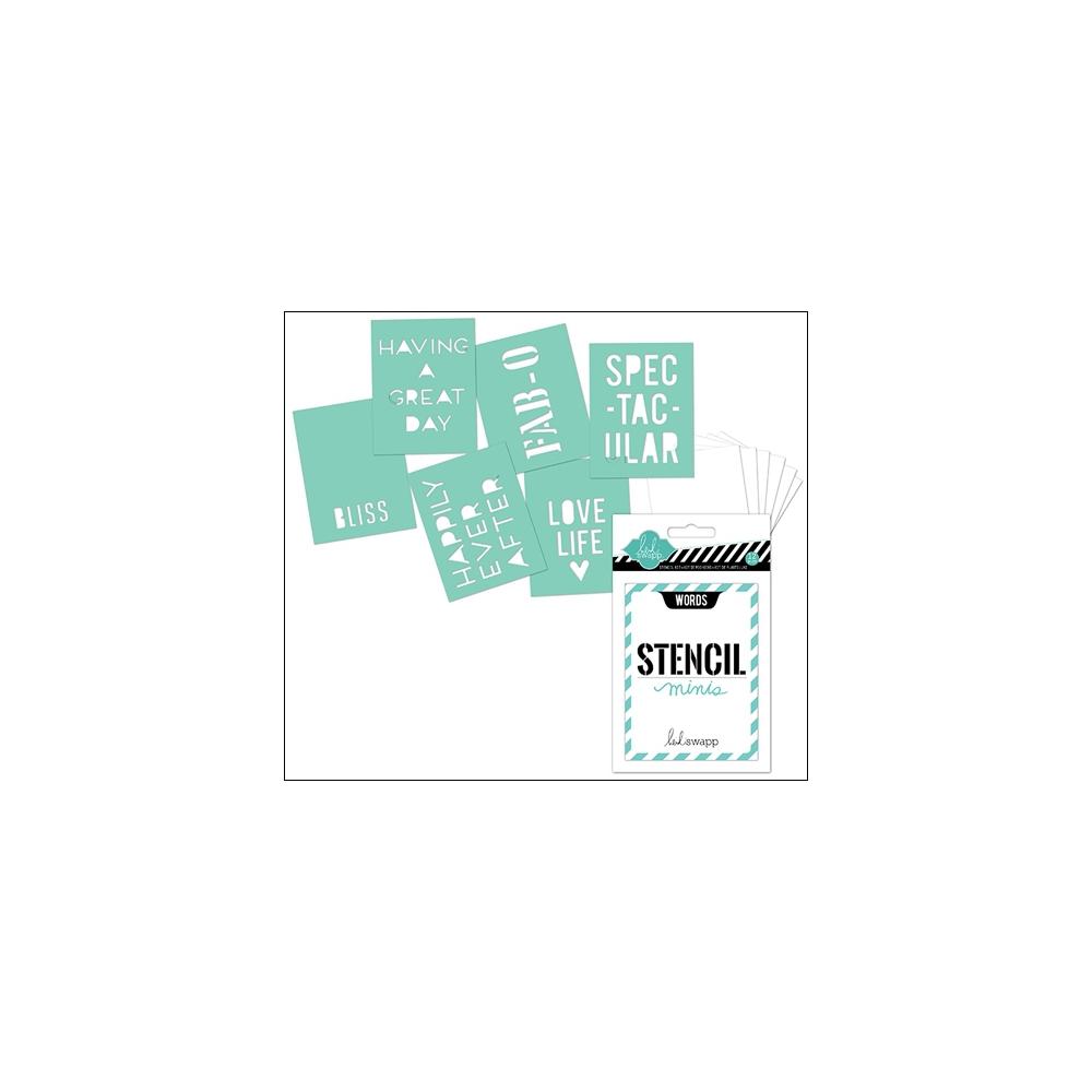 Heidi Swapp Mini Stencil Kit Words