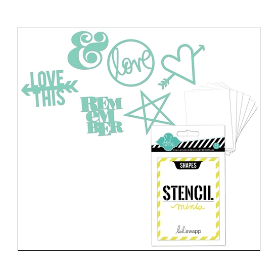 Heidi Swapp Mini Stencil Kit Shapes