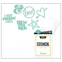 Heidi Swapp Mini Stencil Kit Shapes