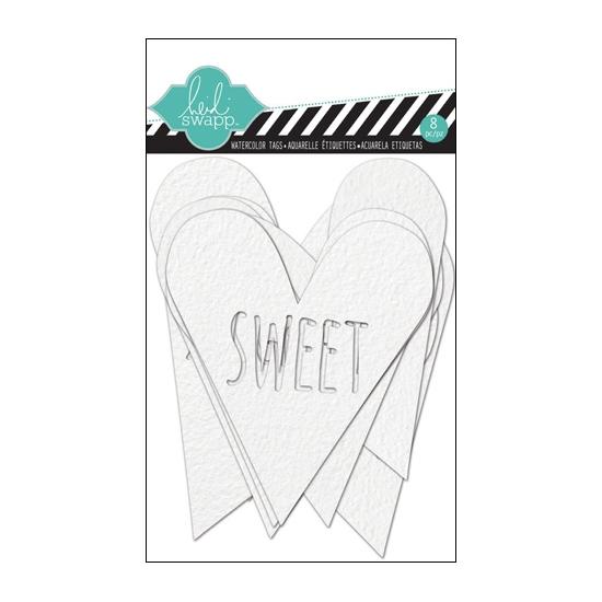 Heidi Swapp Color Magic Watercolor Tags Hearts