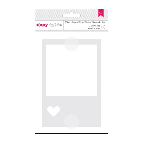 American Crafts Copyrights Stencil Photo Frame