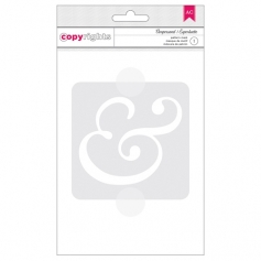 American Crafts Copyrights Stencil Ampersand