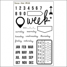 Simple Stories Clear Stamps Date DIY Collection