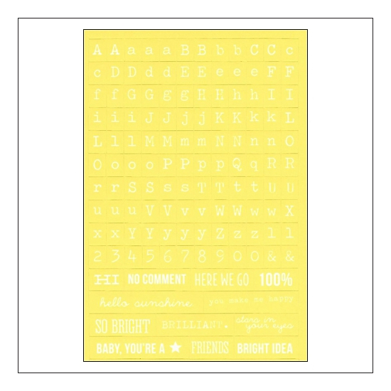 Simple Stories Yellow Typeset Stickers DIY Collection
