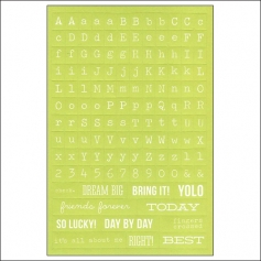 Simple Stories Lime Typeset Stickers DIY Collection