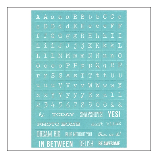 Simple Stories Teal Typeset Stickers DIY Collection