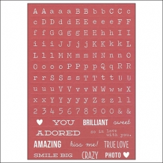 Simple Stories Red Typeset Stickers DIY Collection