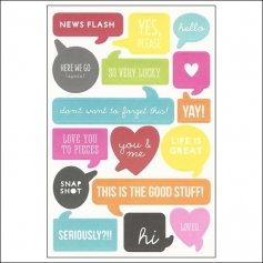 Simple Stories Words Stickers DIY Collection