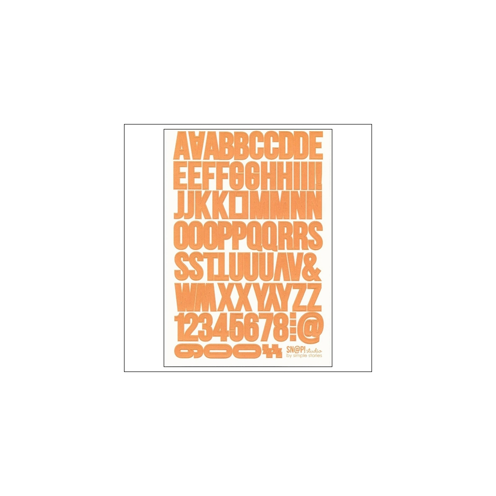 Simple Stories Orange Letters Stickers DIY Collection