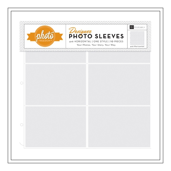 Echo Park Paper Co 12x12 Designer Photo Sleeves 4x6 Horizontal Photo Freedom