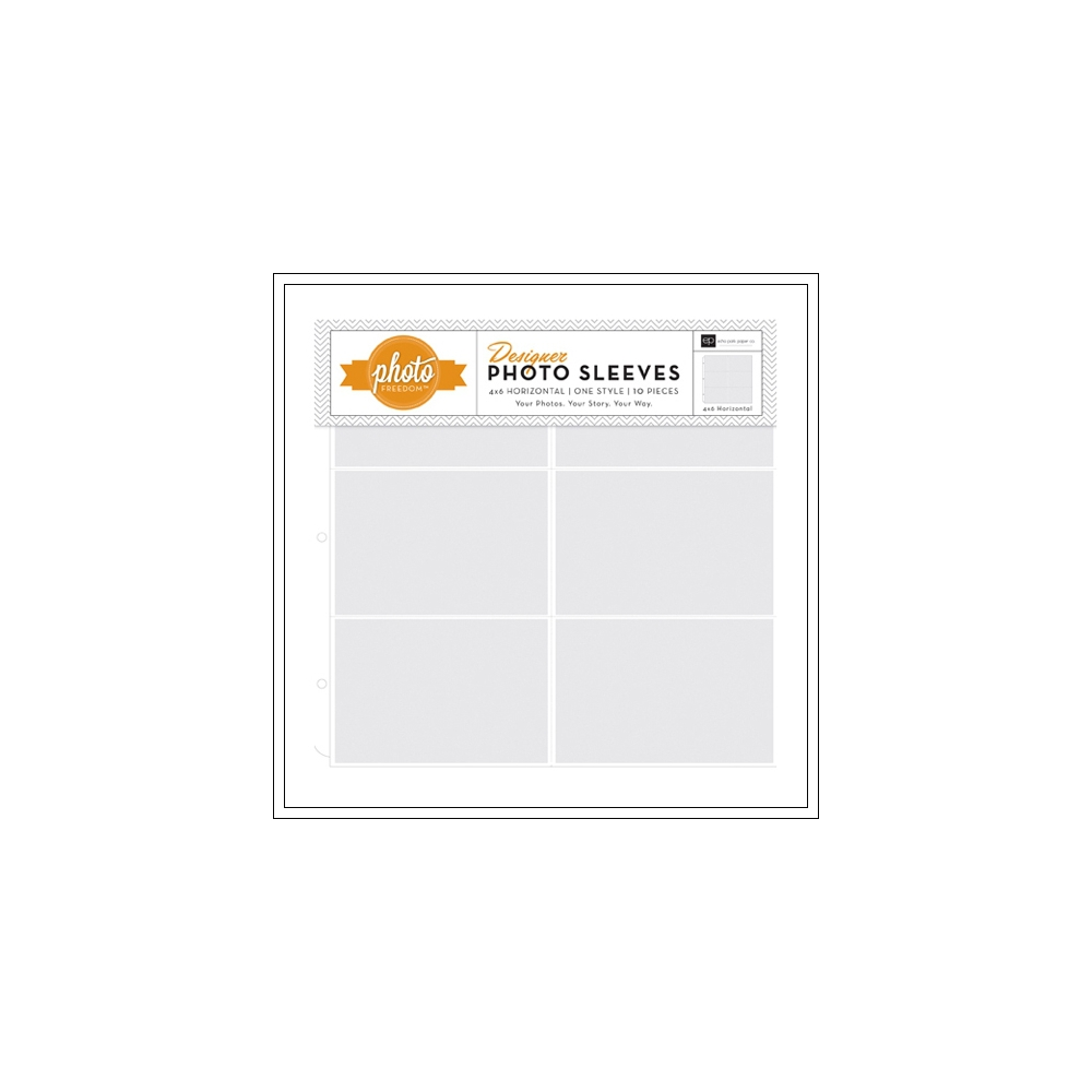 Echo Park Paper Co 12x12 Designer Photo Sleeves 4x6 Horizontal Photo