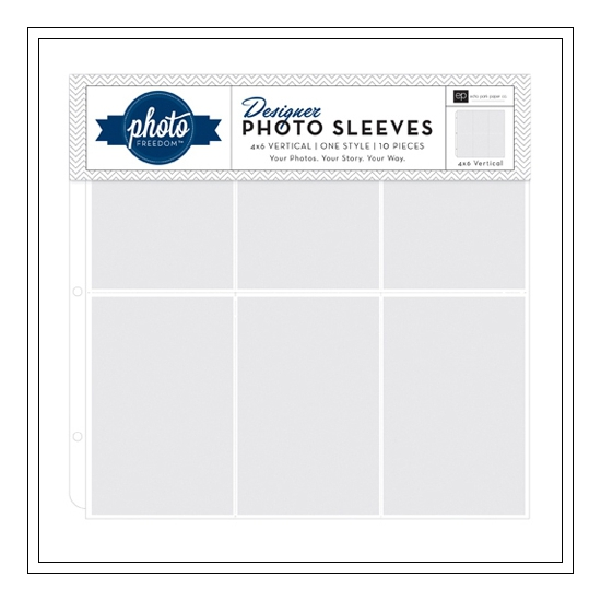 Echo Park Paper Co 12x12 Designer Photo Sleeves 4x6 Vertical Photo Freedom