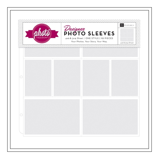 Echo Park Paper Co 12x12 Designer Photo Sleeves 3x4 and 4x6 Photo Freedom