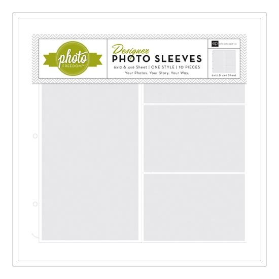 Echo Park Paper Co 12x12 Designer Photo Sleeves 4x6 and 6x12 Photo Freedom