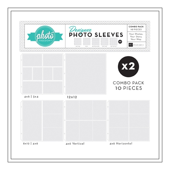 Echo Park Paper Co 12x12 Designer Photo Sleeves Combo Pack Photo Freedom