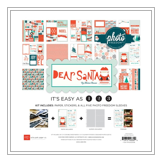 Echo Park Paper Co 12x12 Photo Freedom Dear Santa Collection Kit