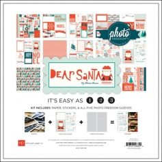 Echo Park Paper Co 12x12 Photo Freedom Dear Santa Collection Kit