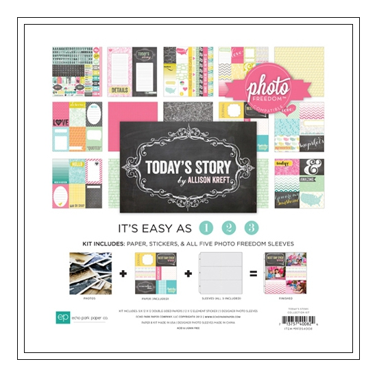 Echo Park Paper Co 12x12 Photo Freedom Todays Story Collection Kit
