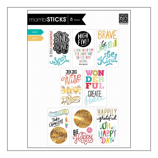 Me and My Big Ideas Stickers Big Words Inspirational