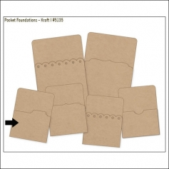 Simple Stories Foundations Kraft Pocket Tab Edge 3x4 DIY Collection