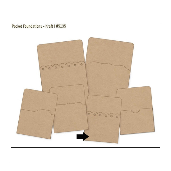 Simple Stories Foundations Kraft Pocket Scallop Edge 3x4 DIY Collection
