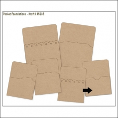 Simple Stories Foundations Kraft Pocket Thumb Notch Edge 3x4 DIY Collection