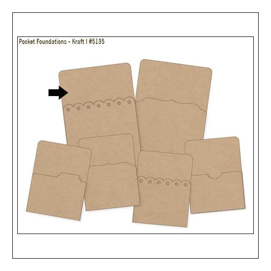 Simple Stories Foundations Kraft Pocket Bracked Edge 4x6 DIY Collection