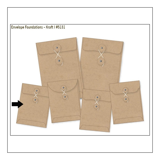 Simple Stories Foundations Kraft Envelope Straigth Edge 3x4 DIY Collection