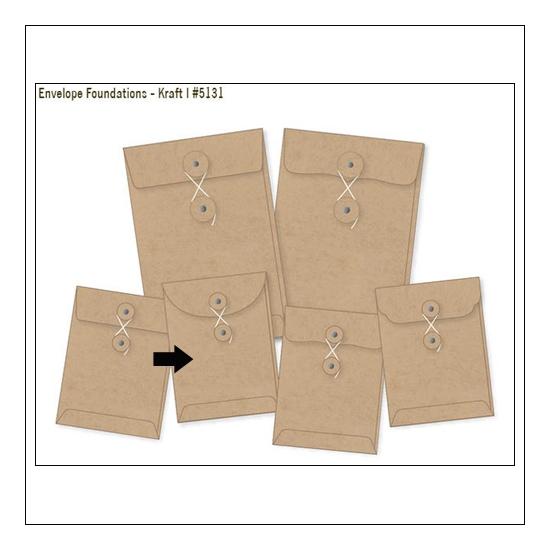 Simple Stories Foundations Kraft Envelope Round Edge 3x4 DIY Collection