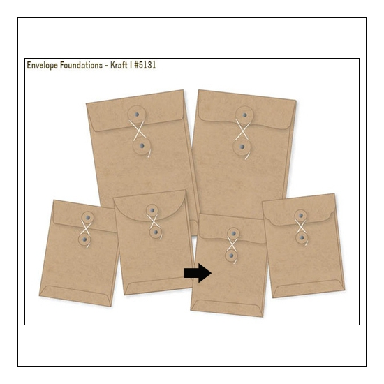 Simple Stories Foundations Kraft Envelope Bracket Edge 3x4 DIY Collection