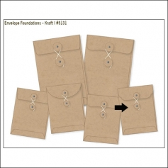 Simple Stories Foundations Kraft Envelope Curved Bracket Edge 3x4 DIY Collection