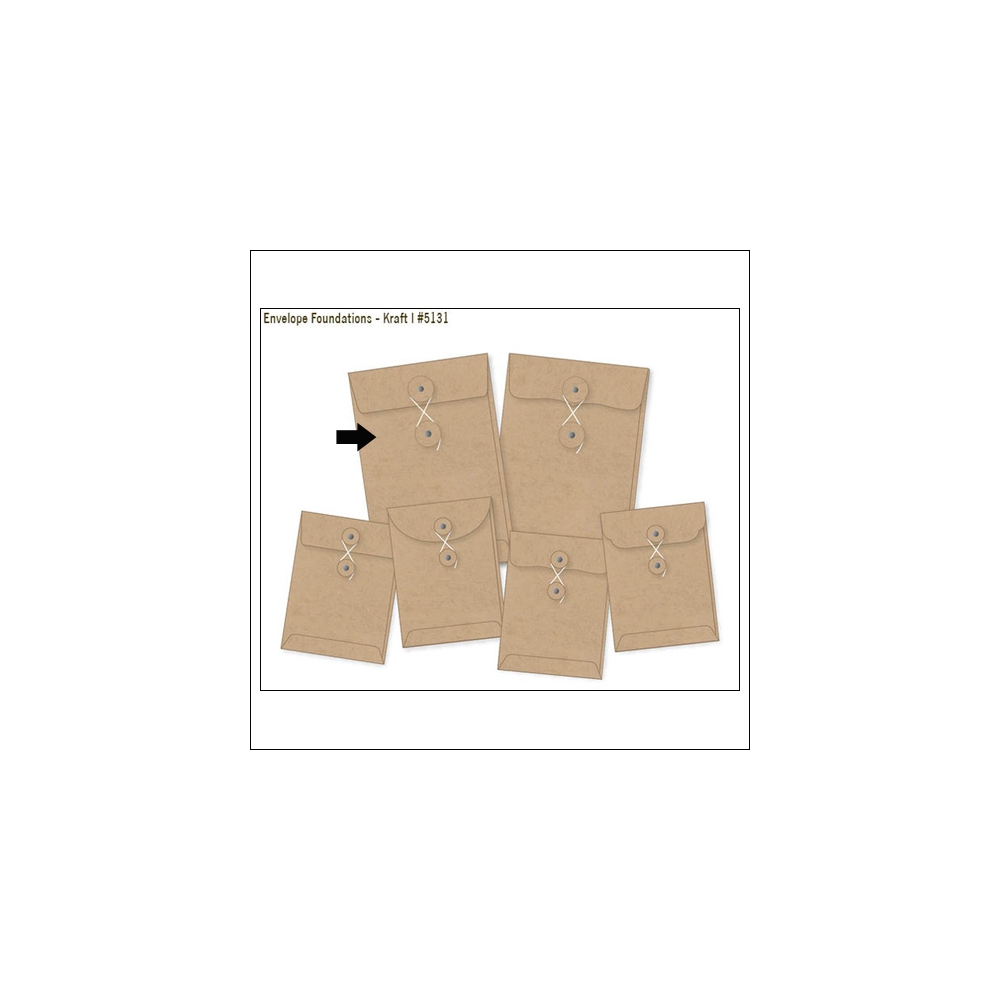 Simple Stories Foundations Kraft Envelope Straight Edge 4x6 DIY Collection
