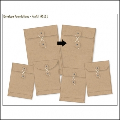 Simple Stories Foundations Kraft Envelope Bracket Edge 4x6 DIY Collection