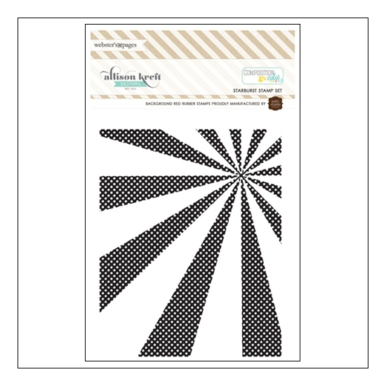 Websters Pages Cling Mounted Rubber Stamp Starburst Composition and Color Collection