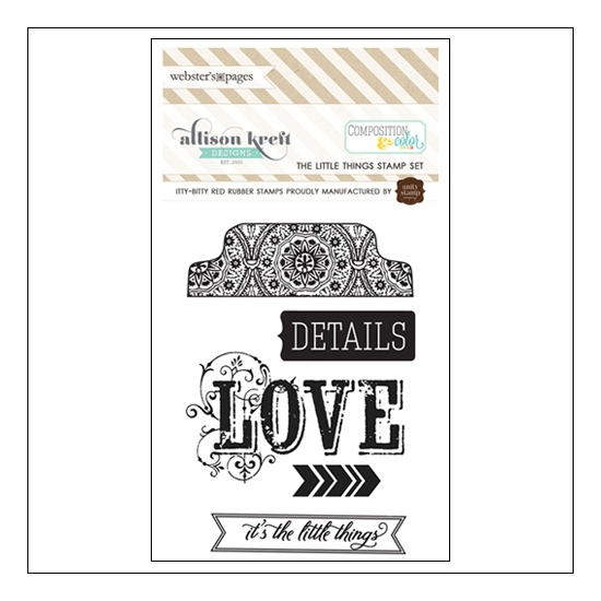 Websters Pages Cling Mounted Rubber Stamp Set The Little Things Composition and Color Collection