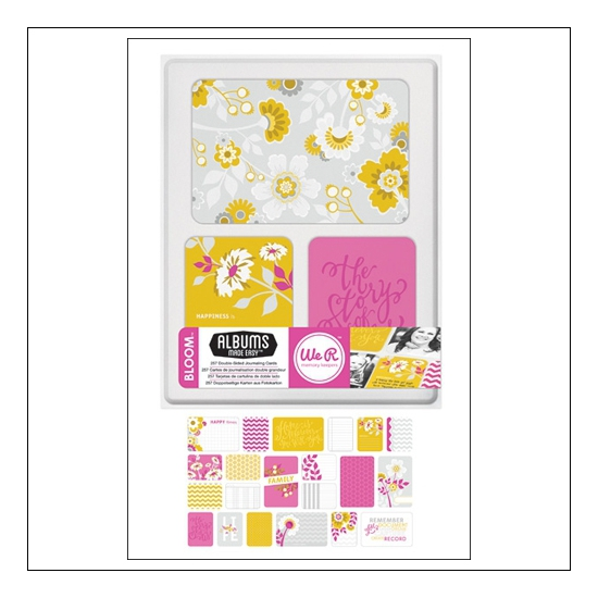 We R Memory Keepers Albums Made Easy Journaling Cards 3x4 and 4x6 Bloom Collection