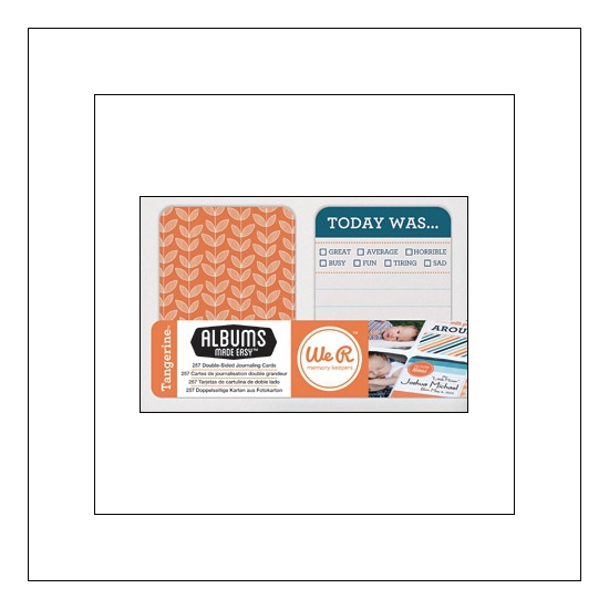 We R Memory Keepers Albums Made Easy Journaling Cards 3x4 Tangerine Collection