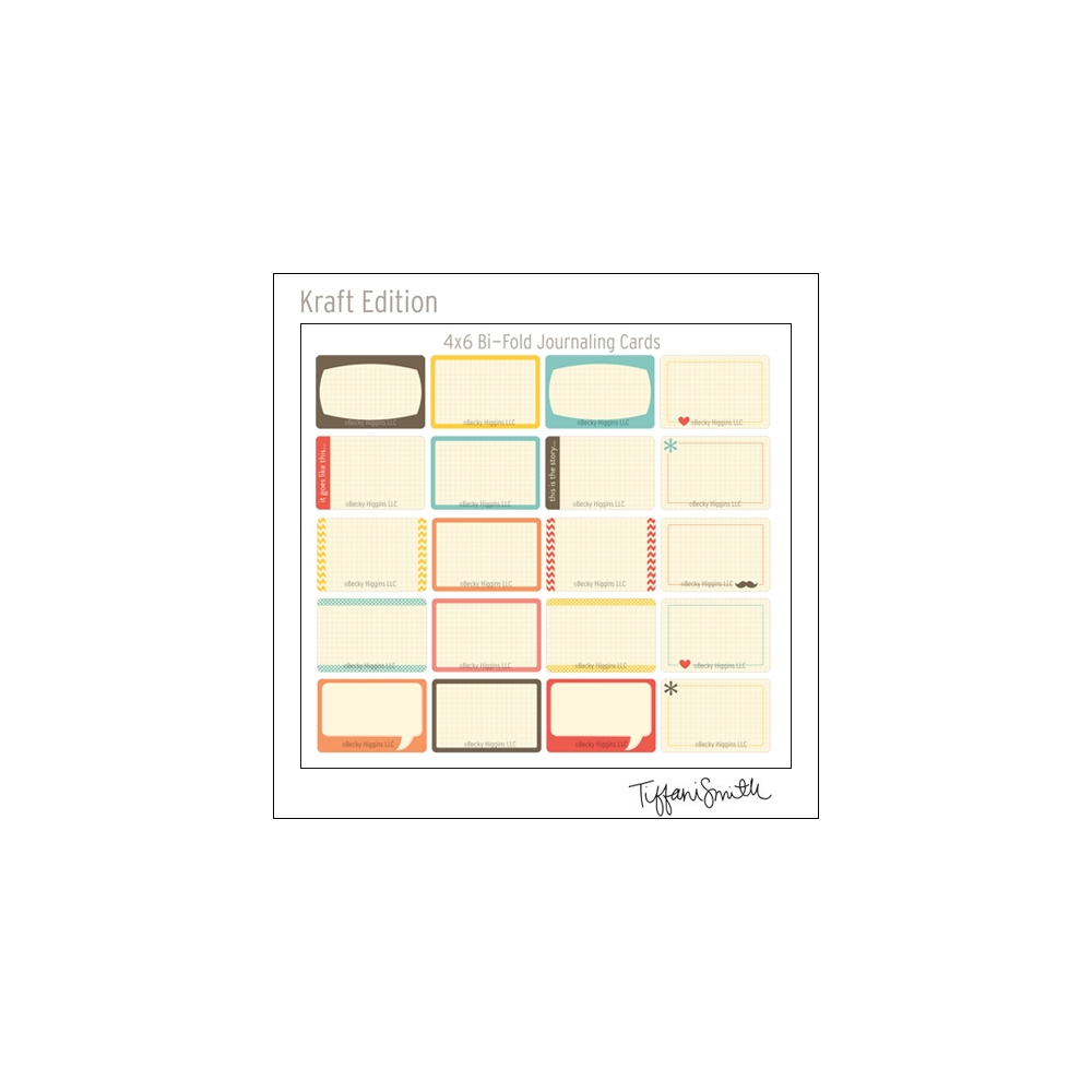 Project Life Core Kit Bi-Fold Cards 4x6 Kraft Edition by Tiffani Smith/Becky Higgins