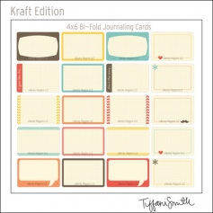 Project Life Core Kit Bi-Fold Cards 4x6 Kraft Edition by Tiffani Smith/Becky Higgins