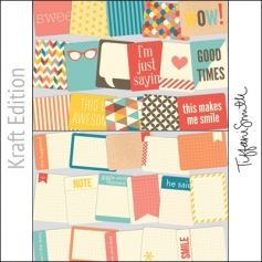 Project Life Core Kit Cards 3x4 Kraft Edition by Tiffani Smith/Becky Higgins
