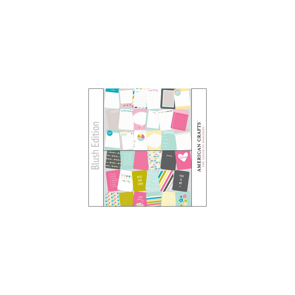 Project Life Core Kit Cards 3x4 Blush Edition by American Crafts/Becky Higgins