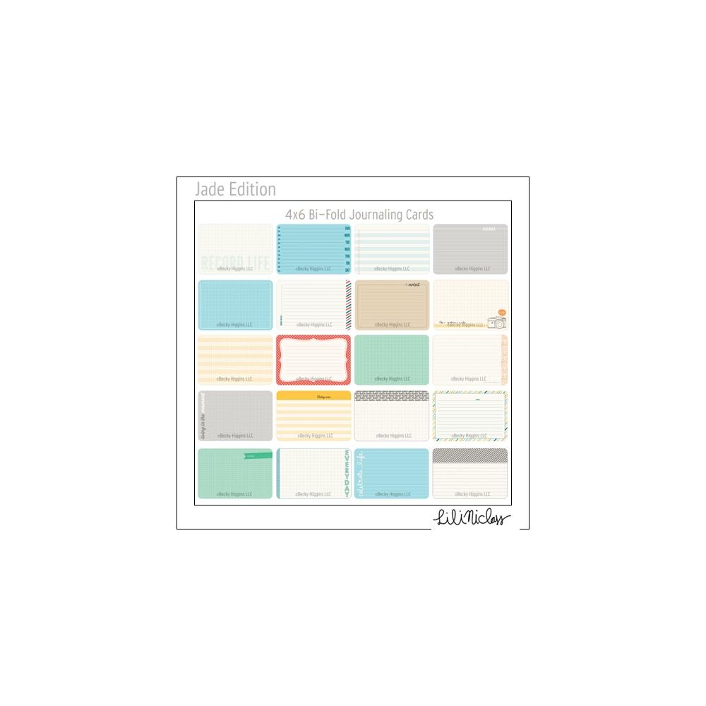 Project Life Core Kit Bi-Fold Cards 4x6 Jade Edition by Lili Niclass /Becky Higgins