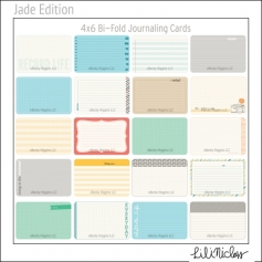 Project Life Core Kit Bi-Fold Cards 4x6 Jade Edition by Lili Niclass /Becky Higgins