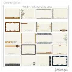Project Life Core Kit Bi-Fold Cards 4x6 Cinnamon Edition by Kerri Bradford/Becky Higgins