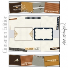 Project Life Core Kit Cards 4x6 Cinnamon Edition by Kerri Bradford Crafts/Becky Higgins