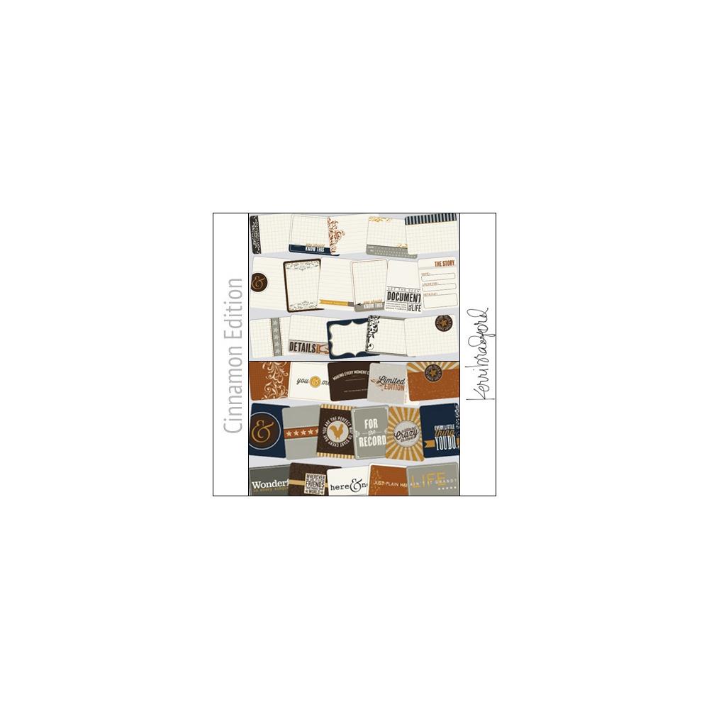 Project Life Core Kit Cards 3x4 Cinnamon Edition by Kerri Bradford/Becky Higgins
