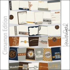 Project Life Core Kit Cards 3x4 Cinnamon Edition by Kerri Bradford/Becky Higgins