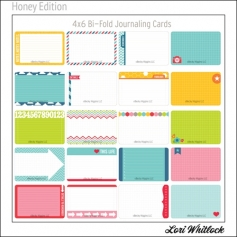 Project Life Core Kit Bi-Fold Cards 4x6 Honey Edition by Lori Whitlock/Becky Higgins