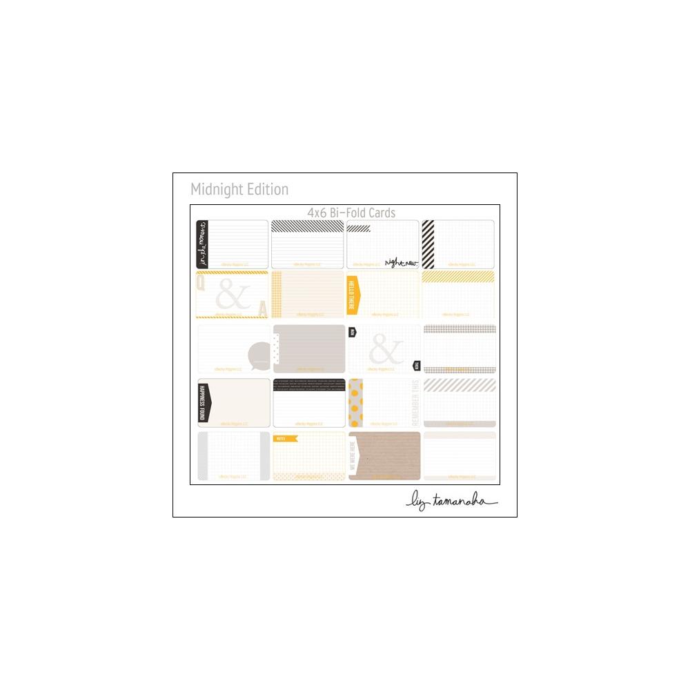 Project Life Core Kit Bi-Fold Cards 4x6 Midnight Edition by Liz Tamanaha/Becky Higgins
