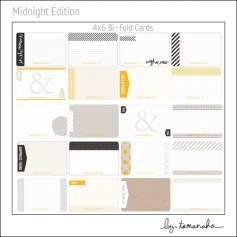 Project Life Core Kit Bi-Fold Cards 4x6 Midnight Edition by Liz Tamanaha/Becky Higgins